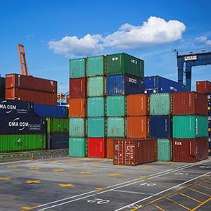 Container Transport Ladungssicherung LaSi-verbindet
